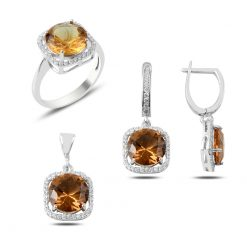 Zultanite Color Change Turkish Stone-Round Zultanite Swarovski Elegance Set