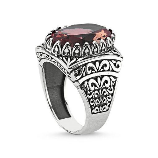 Zultanite Color Change Turkish Stone-Silver Zultanite Men Ring