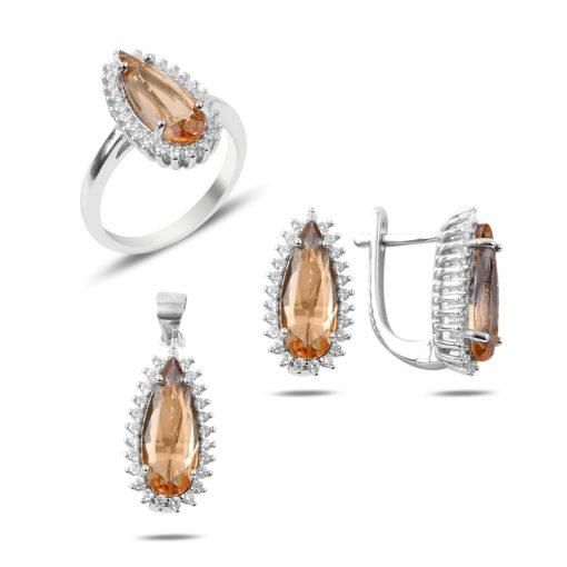 Zultanite Color Change Turkish Stone-Zultania Silver Jewelry Set
