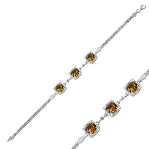 Zultanite Color Change Turkish Stone-Zultania Silver Swarovski Bracelet
