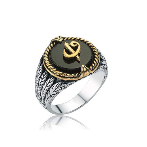 Elif Vav Onyx Men Ring
