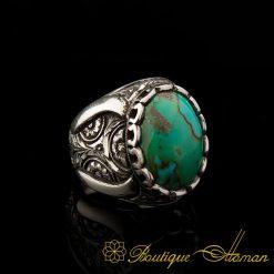Rare Iranian Turquoise Ferooza Handmade Ring-1