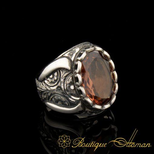 Zultanite Silver Men Ring Hand Craft 925