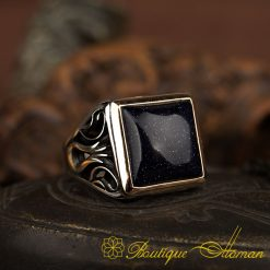 Deep Blue Star Stone Tulip Ring