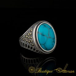 Ferooza and Marcasite Designer Ring