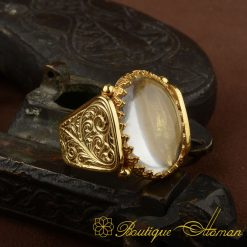 Hun Collection Dur Al Najaf Gold Version Men Ring