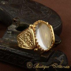 Hun Collection Dur Al Najaf Gold Version Men Ring