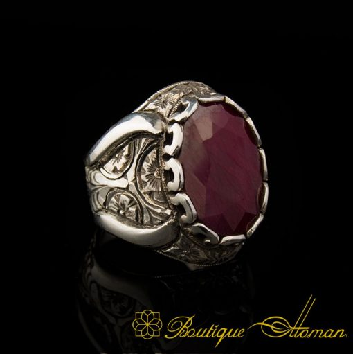 Natural Yaqoot Ruby Handmade Silver Ring-7Natural Yaqoot Ruby Handmade Silver Ring-7