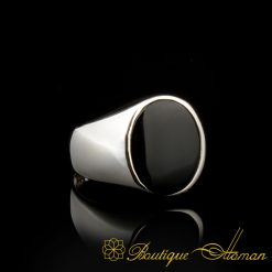 Plain-Round-Black-Onyx-Silver-Ring-BOM-3070-3-a