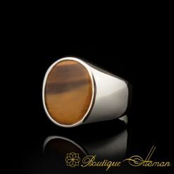 Plain-Round-Tiger's-Eye-Silver-Ring-BOM-3070-4-a
