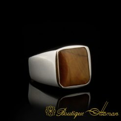 Square-Tiger's-Eye-Plain-Silver-Ring-BOM-3069-4-aSquare-Tiger's-Eye-Plain-Silver-Ring-BOM-3069-4-a