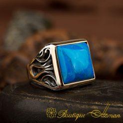 Turquoise Tulip Ring