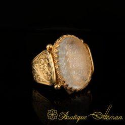 Ayat Al Kursi Najaf Gold Ring