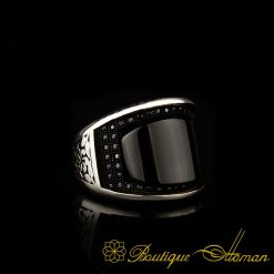 Curve Collection Onyx Silver Ring