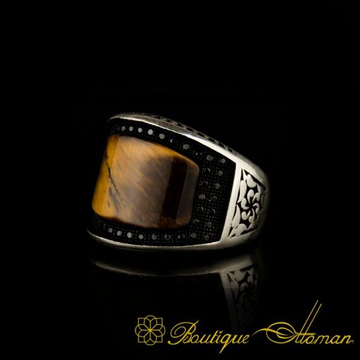 Curve Collection Tiger s Eye Silver Ring