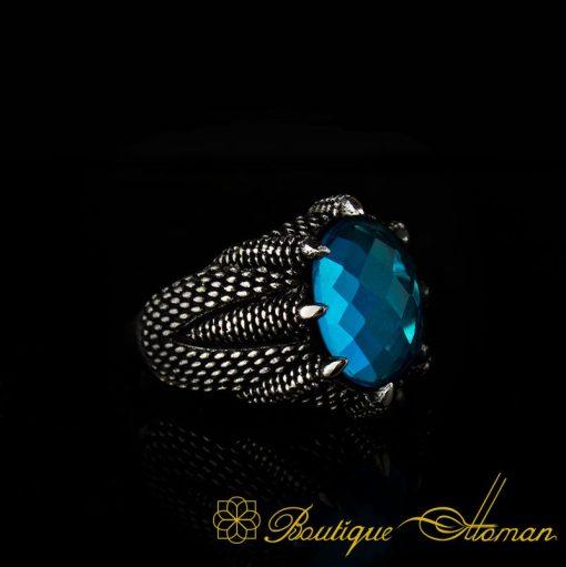 Falcon Collection Aquamarine Zircon Ring