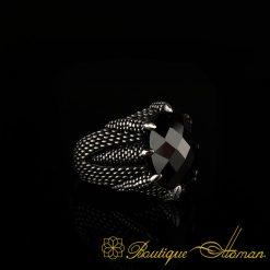 Falcon Collection Black Zircon Ring