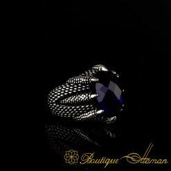 Falcon Collection Dark Blue Zircon Ring