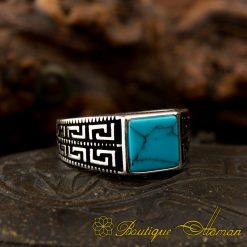 Square Feroza Pinky Finger Ring - 1