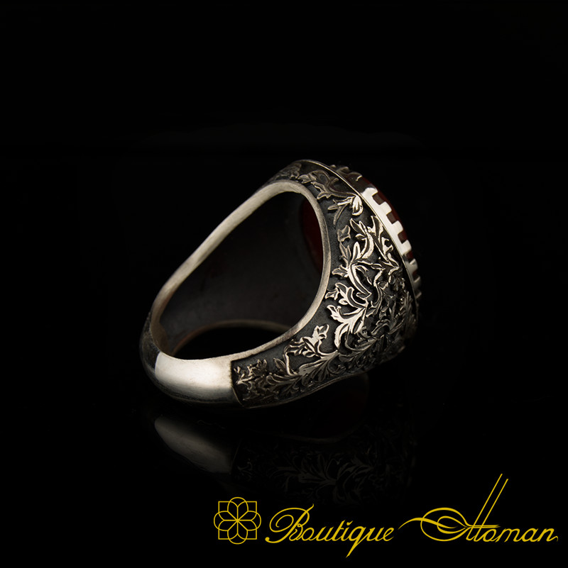 925 Sterling Silver Mens Ring Onyx Stone Personalized Ring Free Express Shipping
