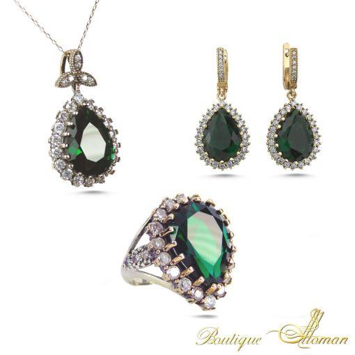 Hurrem Sultan Three Pieces Jewelry Set