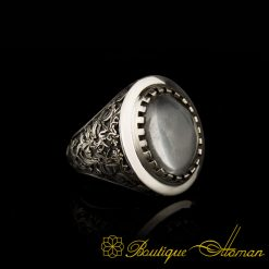 Savoy Collection Dur-Al-Najaf Hand Engraver Silver Ring