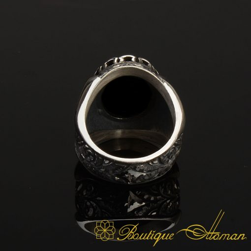 Onyx Classic Silver Handmade Men Ring