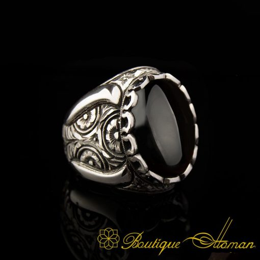 Classic Black Onyx Handmade Silver Men Ring