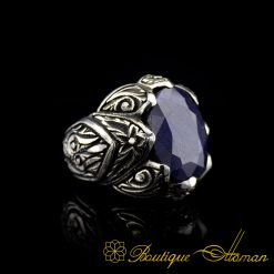 Blue Sapphire Classic Silver Ring-1