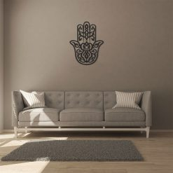 Hand of Fatima Hamsa Islamic Metal Wall Decor