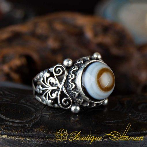 Sulemani Aqeeq Stone Traditional Handmade Ring - SL0002