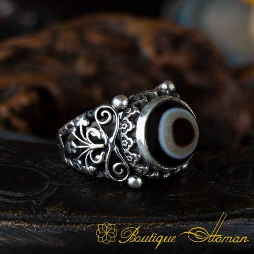 Sulemani Aqeeq Stone Traditional Handmade Ring - SL0003-a