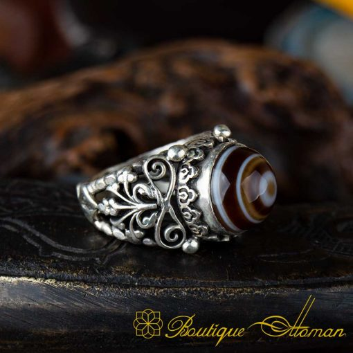 Sulemani Aqeeq Stone Traditional Handmade Ring - SL0004