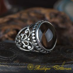 Craft Collection Oval Smoky Quartz Handicraft Ring