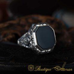 Octagon Onyx Classic Ring
