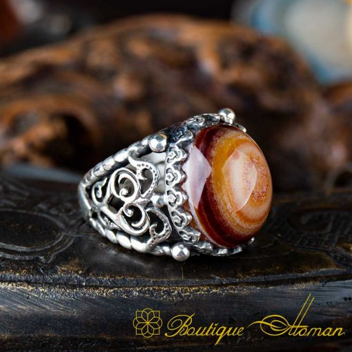 Real Sulemani Aqeeq Gemstone Ring SL0008-4