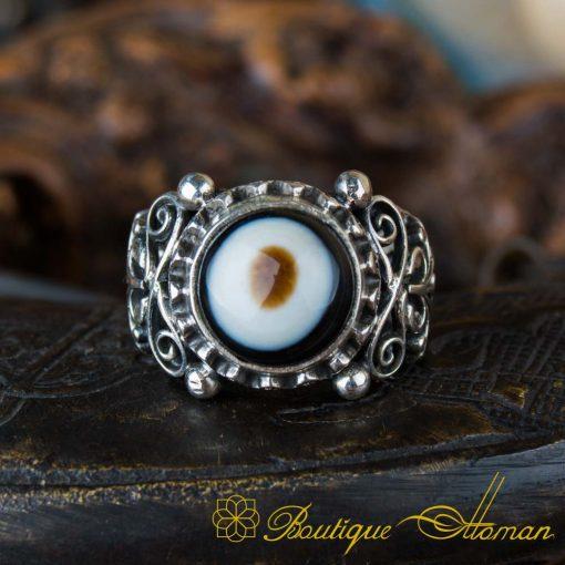 Sulemani Aqeeq Stone Traditional Handmade Ring - SL0010