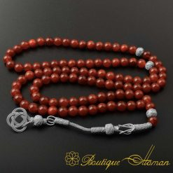 Red-Liver-Yemeni-Aqeeq-99-Beads-Tasbeeh-Misbaha-Prayer-Beads-Rosary