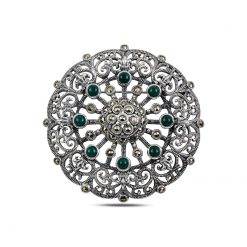 Marcasite Silver Brooch and Pendant