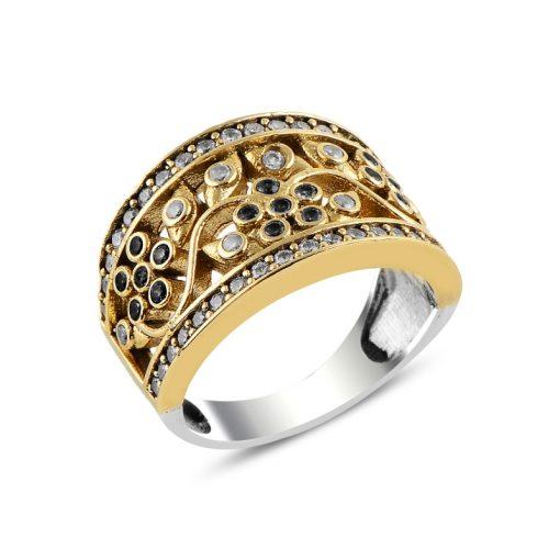 Ottoman Style Zircon Ring- Black