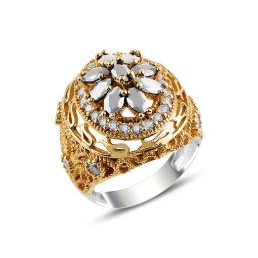 Ottoman Style Zircon Ring-White