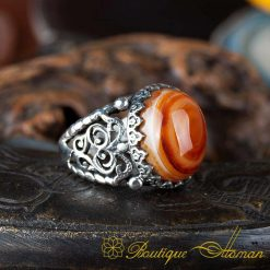 Real Sulemani Aqeeq Gemstone Ring SL0012-1