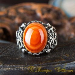 Real Sulemani Aqeeq Gemstone Ring SL0012-2