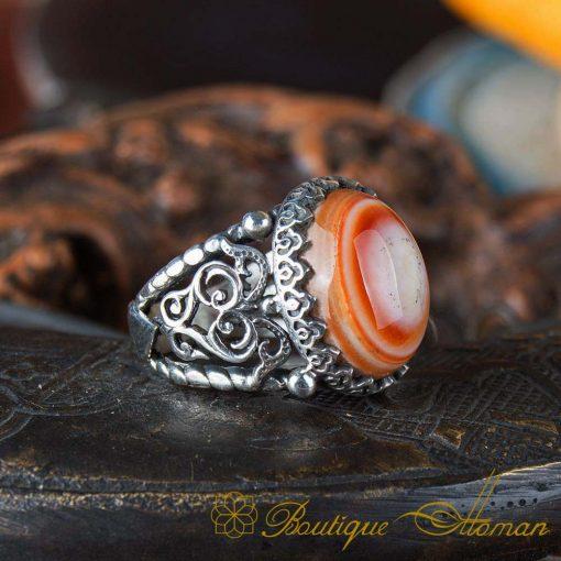 Real Sulemani Aqeeq Gemstone Ring SL0014-1