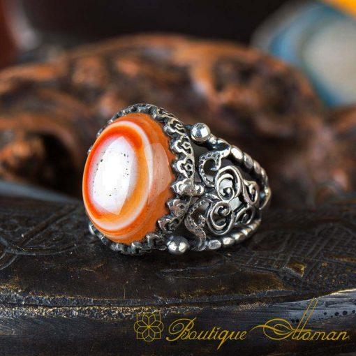 Real Sulemani Aqeeq Gemstone Ring SL0014-3