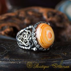Real Sulemani Aqeeq Gemstone Ring SL0015-1