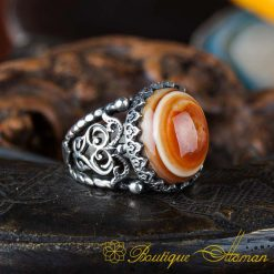 Real Sulemani Aqeeq Gemstone Ring SL0016-1
