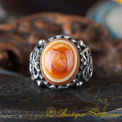 Real Sulemani Aqeeq Gemstone Ring SL0016-2