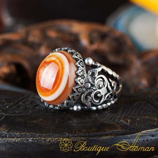 Real Sulemani Aqeeq Gemstone Ring SL0016-3
