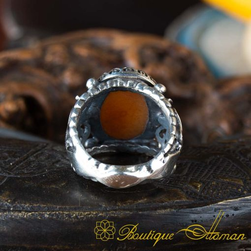 Real Sulemani Aqeeq Gemstone Ring SL0016-4